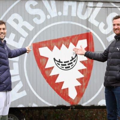 Die ehemaligen Karlsruher Jonas Meffert und Dominic Peitz im CITTI FUSSBALL PARK
