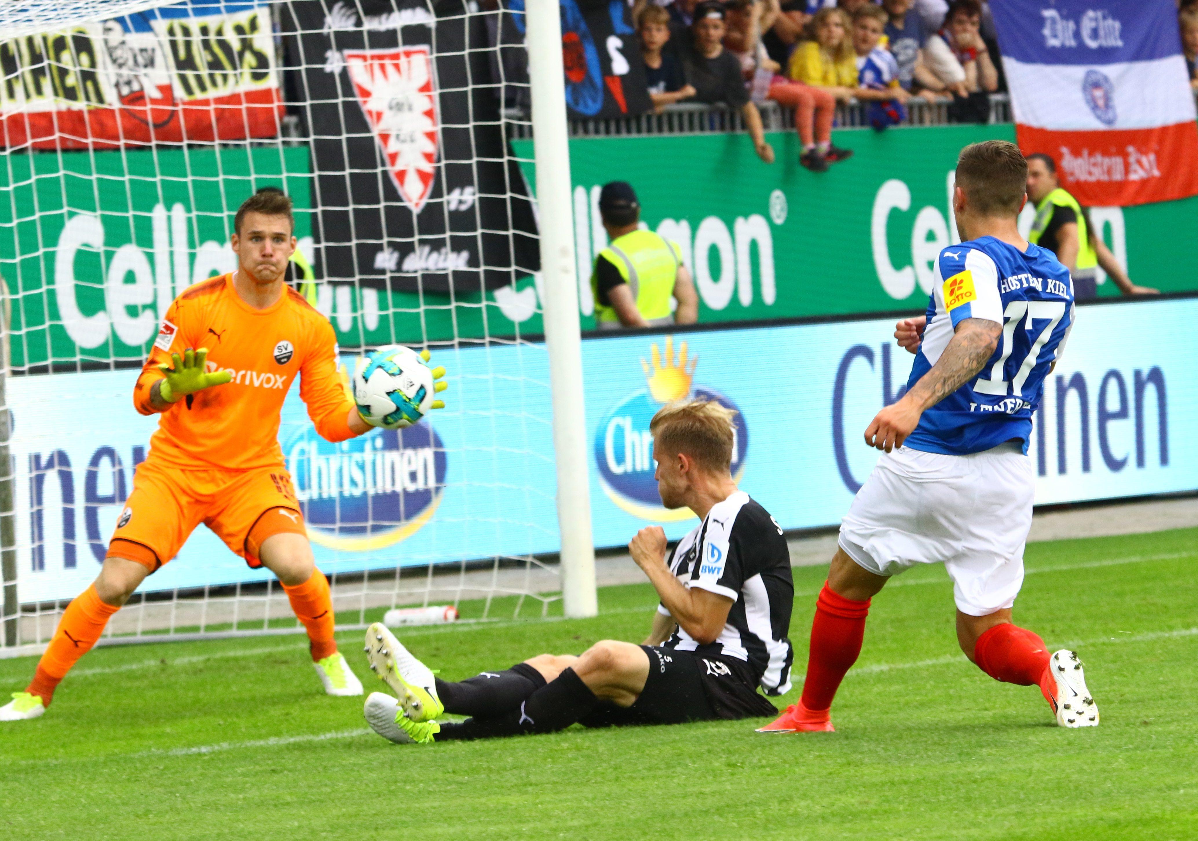 Steven Lewerenz erzielte gegen den SV Sandhausen das erste Tor der KSV nach dem Aufstieg in die 2. Bundesliga.