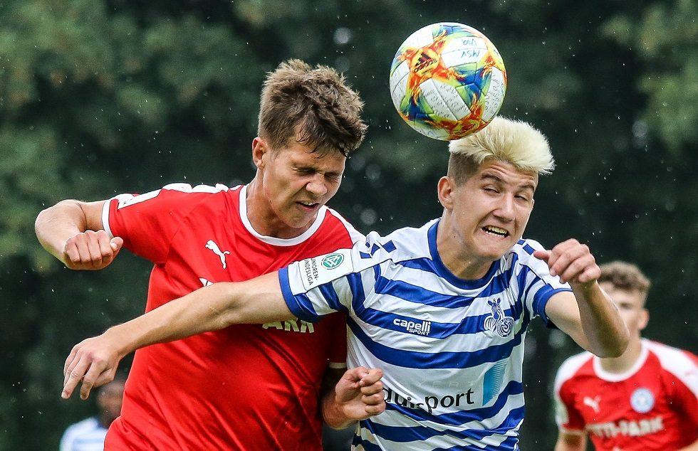 Luca Reimers gegen den MSV Duisburg