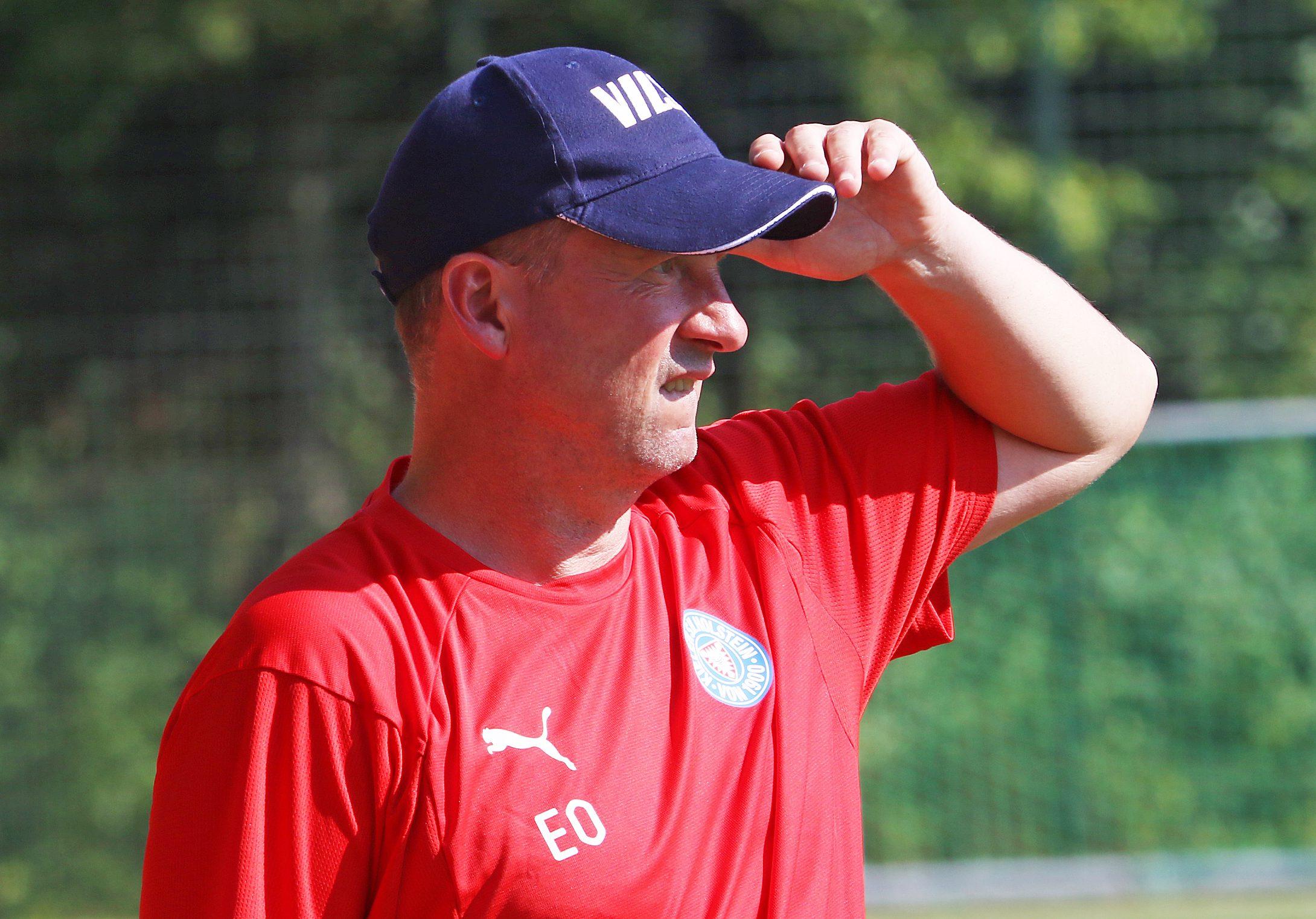 20190831 Holsteins U17 Trainer Elard Ostermann bei seiner Heimpremiere