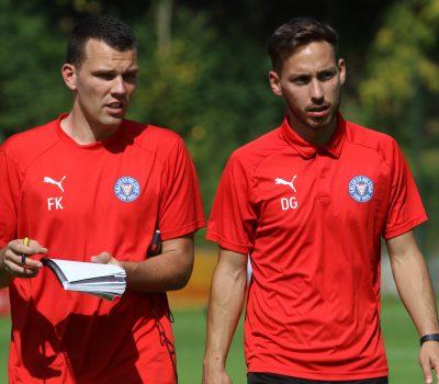 20190831 U19 Trainerteam Fredy Kaps und Dominik Glawogger gegen Werder