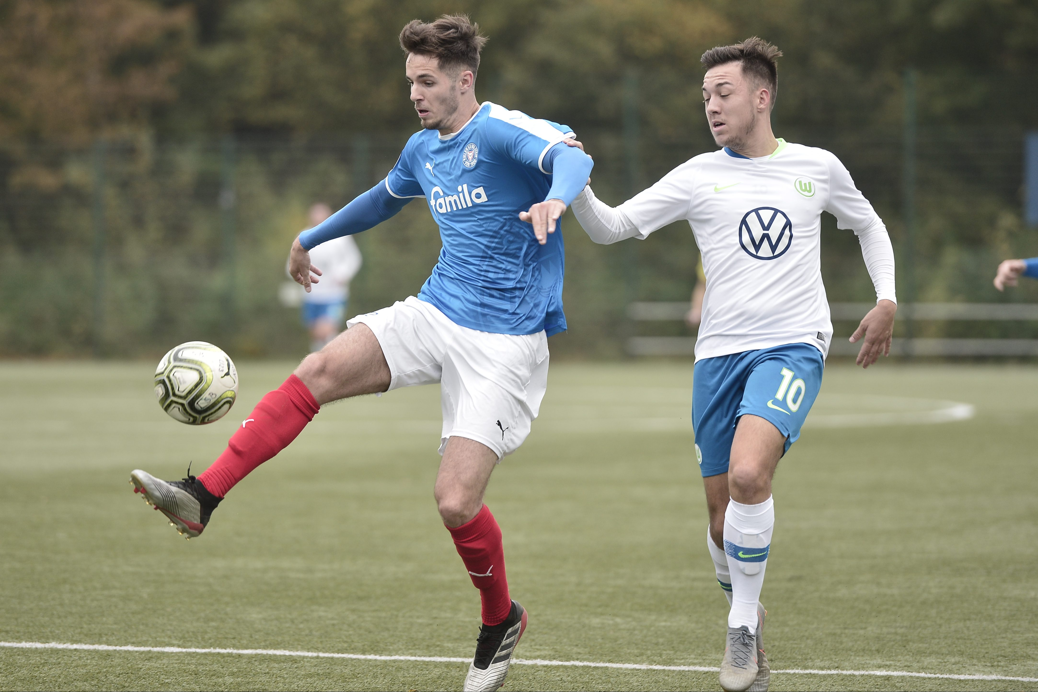 Regionalliga Nord  Holstein II -  Wolfsburg II Tobias Fleckstein - Julian Justvan