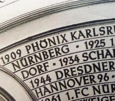 Deutscher Meister 1909 wurde Phönix Karlsruhe