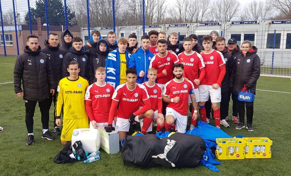 Die U19 von Dominik Glawogger testete gegen Schweinfurt und Bielefeld.