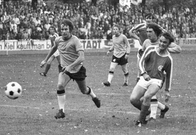 Gerd Saborowski 1971 im Testspiel gegen East Fife FC Methil Edinburgh