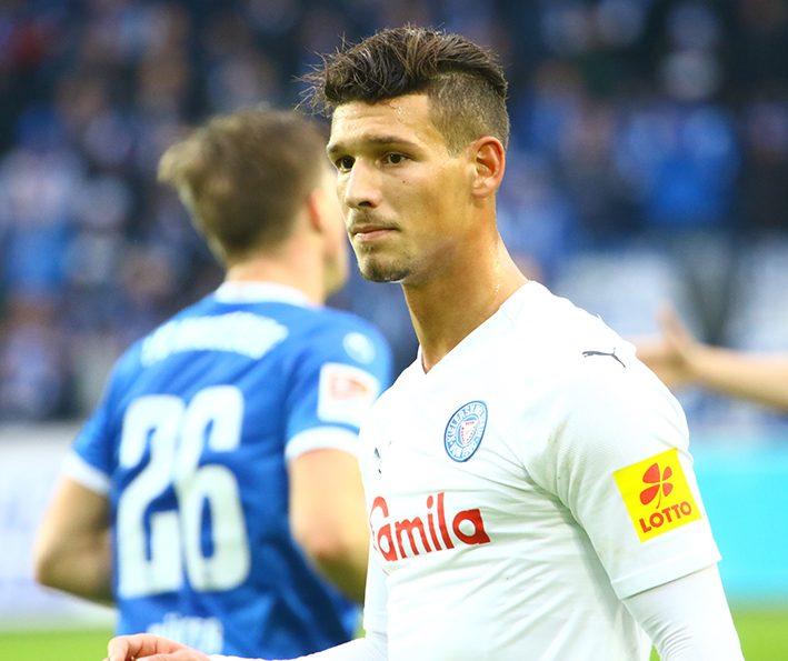 Heinz Mörschel im Spiel gegen Magdeburg