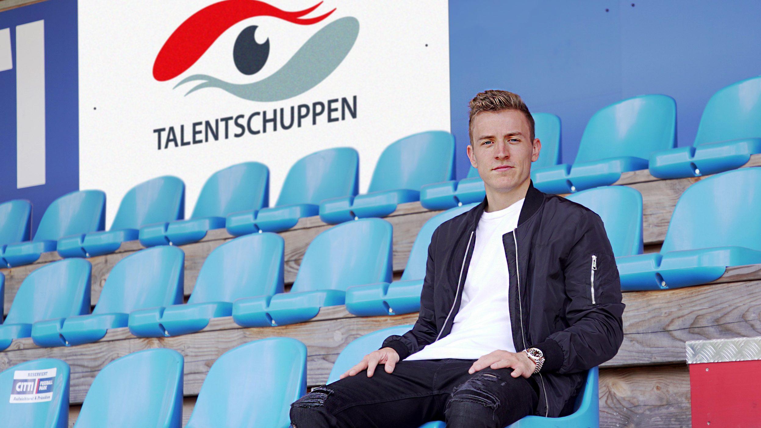 Niklas Hauptmann kommt zur KSV. Präsentiert von Talentschuppen